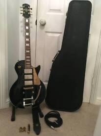 1998 Epiphone Les Paul Black Beauty Electric Guitar and Case