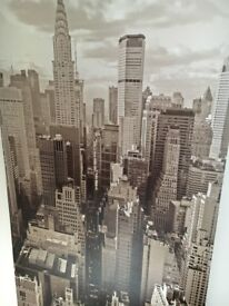 New York picture canvass, black and white