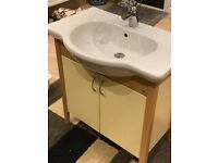 Vitra free standing vanity unit with Hansgrohe Axor monobloc tap
