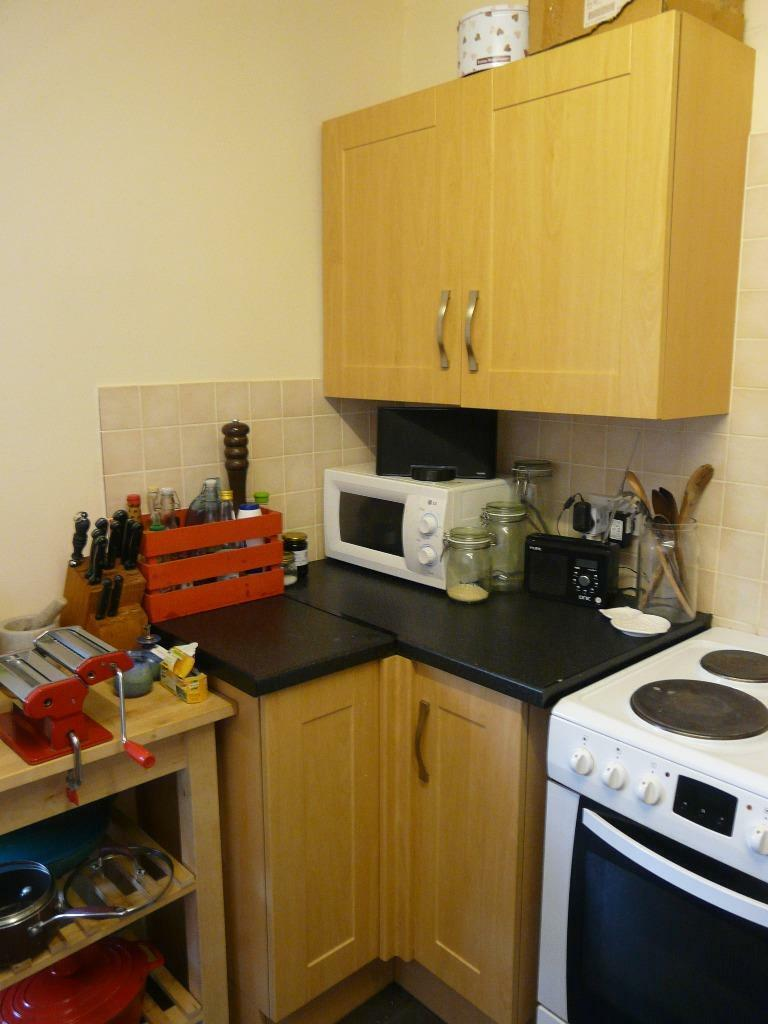 Good quality beech effect howdens fitted kitchen in for Cheap fitted kitchens