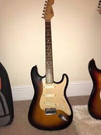 Fender Squier Strat With Tremolo Electric Guitar