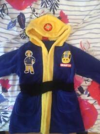 Age 3-4 Fireman Sam Dressing Gown