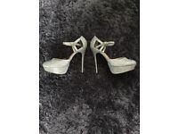 Brand New Silver Glittery Stilettos