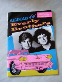 Everly Brothers (plus Duane Eddy) 1991 Pictorial Promo Souvenir Brochure