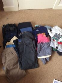 Huge bundle of boys clothes age 9 -10 years