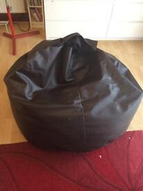 Large leather beanbag