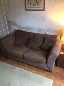 Used sofa bed and 2 seater sofa