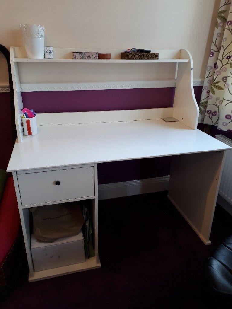 White Ikea Hemnes Desk