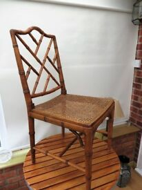 Cane effect chair