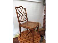 Cane effect chair
