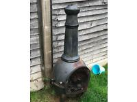 Solid cast iron chimnea
