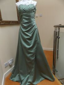 Mark Lesley Bridesmaid/Prom/Christmas Party Dress - Style 1134A - Colour Sea Green - Size 14