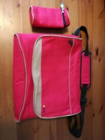 Huack red nappy changing bag