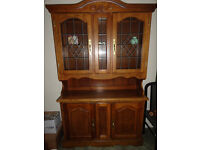 Sideboard with glass display cabinet