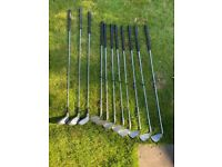 Golf set irons and drivers