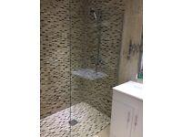 used bathroom glass screen H 1900x1800
