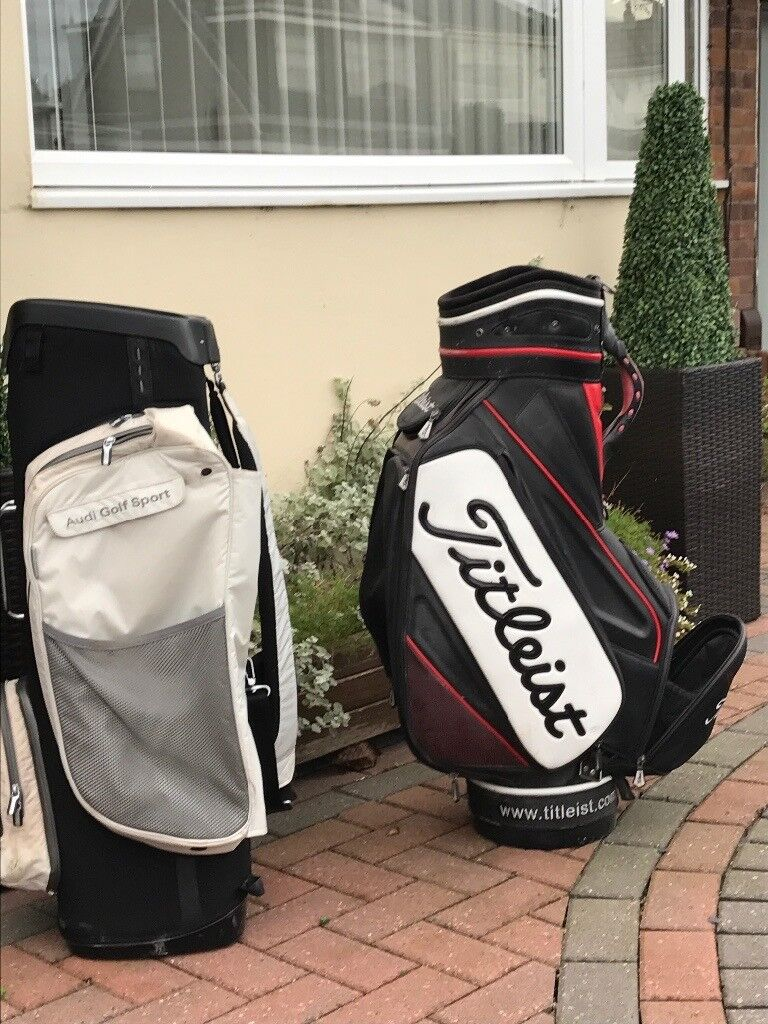 Golfs bags , titleist and Audi