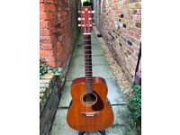 Yamaha FG-200 acoustic guitar (upgraded & setup - ready to play). See video!