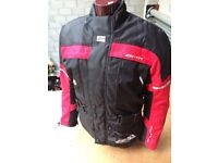 "AKITO ""A.R.D"" TEXTILE MOTORCYCLE JACKET=4 MONTH,S OLD MINT"