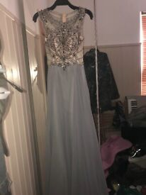 0ef0ac45f2 Grey floor length embellishment prom dress. Worn once, in perfect condition.