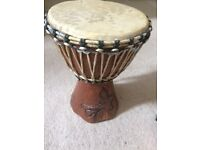 djembe drum bongo traditional carved percussion