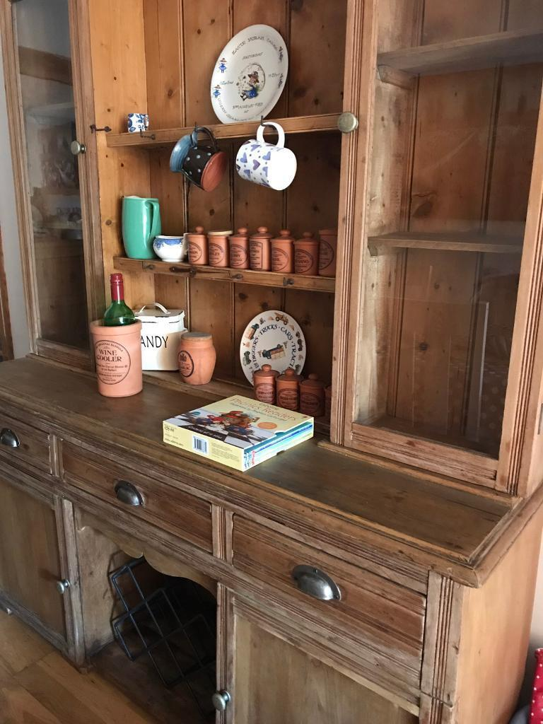 Large Victorian pine dresser antiquein Richmond, LondonGumtree - Gorgeous honey colour rack for plates and hooks for cups. Really stylish! Price reduced for a quick sale bought for £1200