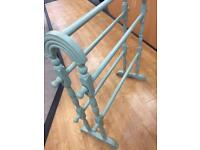 Vintage upcycled wooden towel rail