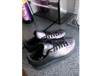 Adidas Stan smith original size 5 metallic look purple excellent condition only worn once
