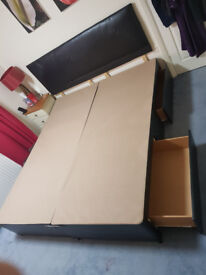 EMPEROR DIVAN BED, 4 DRAWERS, WITH MATTRESS AND MEMORY FOAM TOPPER