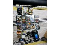 Psp console with 15 games
