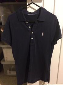 Ladies Small Ralph Lauren Navy Polo Shirt