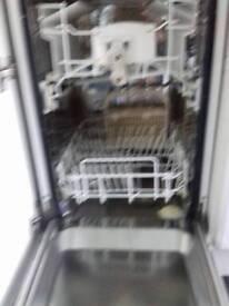 Integrated slim line dishwasher
