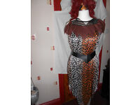 ladies leopard fancy dress