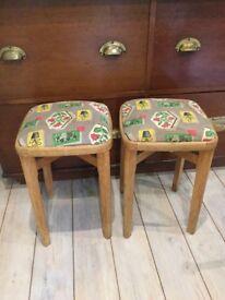 Retro mid Century stools