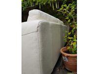 2 habitat leather sofas