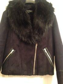 Miss Selfridge Faux Suede Shearing Jacket