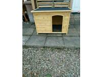 Barkshire traditional flat top dog kennel XL