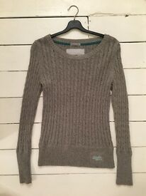 Women's Superdry cable knit jumpers, Medium (various colours)