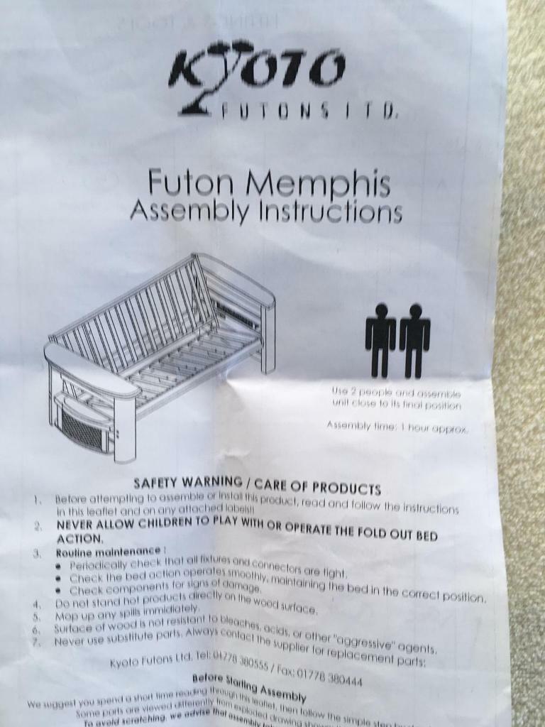 Futon 3 Seater Sofa Double Bed