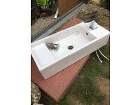 Square basin and mono block taps