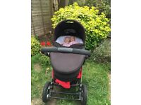 Limited edition iCandy apple pram and pushchair