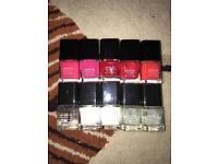 Mini Job lot of Calvin Klein nail polishes x10 bottles