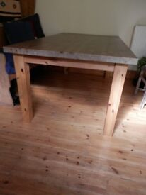 Solid pine Ikea large dining table