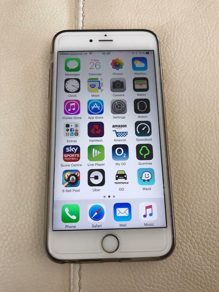 iPhone 6s Plus 64gb unlocked goldin Enfield, LondonGumtree - iPhone 6s Plus gold unlocked immaculate condition has screen protector on and gel cover on back comes with box and charger