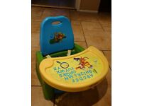 First Years Baby Booster Feeding Seat & Swing Tray Winnie the Pooh and Friends