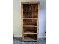 Mantis Light Natural Solid Mango Tall Bookcase from Oak Furniture Land