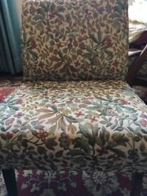Upholstered matching chairs