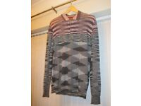 GENUINE MISSONI MADE IN ITALY CASHMERE LONG SLEEVED MENS JUMPER SIZE 54 XL