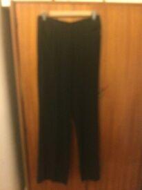 Jigsaw wide legged, soft drape trousers
