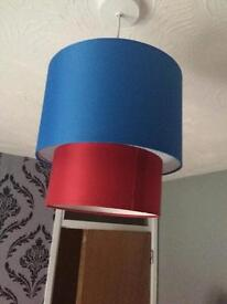 Blue & red ceiling light shade